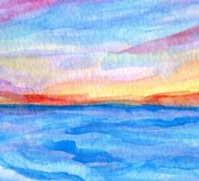 Flagler Beach Sunrise 2 Sticker