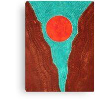 Slot Canyon original painting Canvas Print
