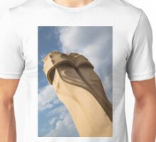 Whimsical Chimneys - Antoni Gaudi's Svelte Pair - Left Unisex T-Shirt