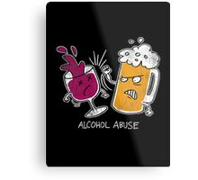 Alcohol Abuse Metal Print
