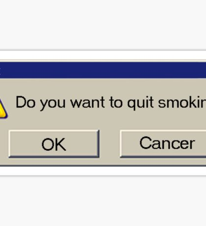 Alert: Do you want to stop smoking? Sticker