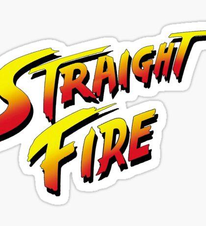 Straight Fire - Street Fighter Sticker