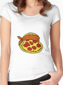 TMNT Pizza - Michelangelo Women's Fitted Scoop T-Shirt