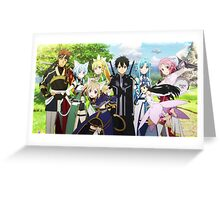 Sword Art Online ALO Group Greeting Card