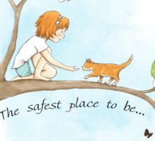 The safest place to be... Sticker