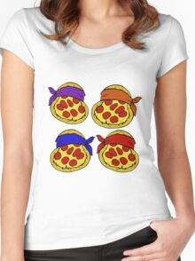 TMNT Pizza  Women's Fitted Scoop T-Shirt