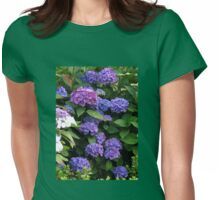 Blue Beauties - Hydrangea Blossoms Womens Fitted T-Shirt