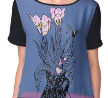 Wonky Flora Chiffon Top