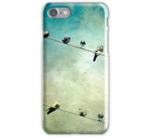 Birds on a High Wire iPhone Case/Skin