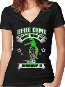 dat boi meme t-shirt Women's Fitted V-Neck T-Shirt