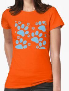 Dog Paws Womens Fitted T-Shirt