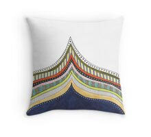 decorative striped patterned edge Throw Pillow