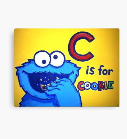 C is for Cookie Monster Canvas Print