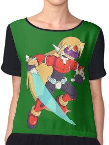 The Red Mega Man Chiffon Top