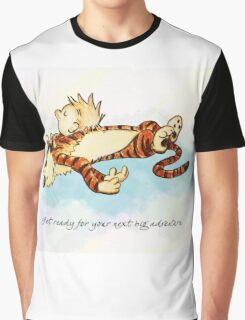 Calvin and Hobbes Resting Graphic T-Shirt