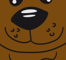 Sitting teddy bear comic cartoon sweet cute Sticker