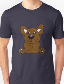 Sitting teddy bear comic cartoon sweet cute Unisex T-Shirt