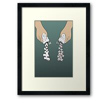 good ink & bad ink Framed Print
