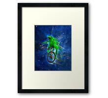 dat boi space shirt (high resolution) Framed Print