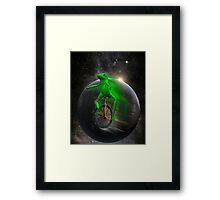 dat boi moon shirt (high resolution) Framed Print