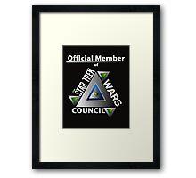 Official Member of the Star Trek Wars Council Transparent Background Framed Print