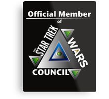 Official Member of the Star Trek Wars Council Transparent Background Metal Print