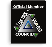 Official Member of the Star Trek Wars Council Transparent Background Canvas Print