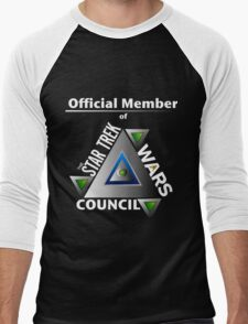 Official Member of the Star Trek Wars Council Transparent Background Men's Baseball ¾ T-Shirt