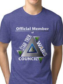 Official Member of the Star Trek Wars Council Transparent Background Tri-blend T-Shirt