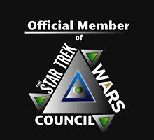 Official Member of the Star Trek Wars Council Transparent Background Hoodie