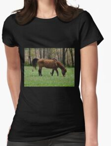 grazin in the grass is a gas Womens Fitted T-Shirt