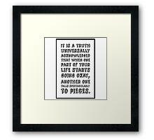 Bridget Jones Framed Print