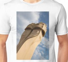 Whimsical Chimneys - Antoni Gaudi's Svelte Pair - Right Unisex T-Shirt