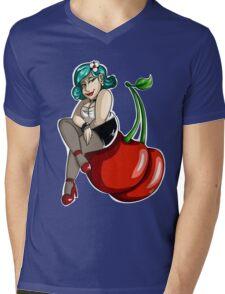 Cherry Girl Mens V-Neck T-Shirt