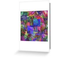 Fragments Of Colour Greeting Card