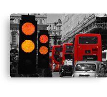 London Traffic Reds Canvas Print