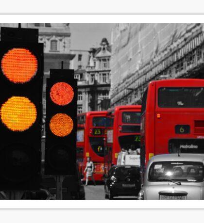 London Traffic Reds Sticker