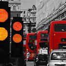 London Traffic Reds by Herbert Shin