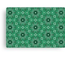 Green Brushes Canvas Print