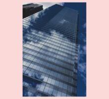 Reflected Sky - Skyscraper Geometry With Clouds - Right Kids Tee