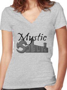 Mystic Suburb Logo Women's Fitted V-Neck T-Shirt
