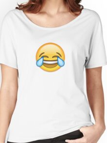 emoji laugh cry Women's Relaxed Fit T-Shirt