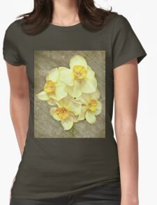 NARCISSUS BEAUTIFUL EYES (Daffodils) Womens Fitted T-Shirt