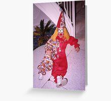 Found Photo Halloween Card - Clown Greeting Card