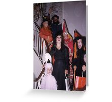Found Photo Halloween Card - Trick-or-Treaters 1 Greeting Card