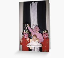 Found Photo Halloween Card - Trick-or-Treaters 3 Greeting Card