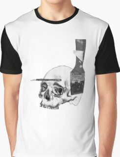 Greyscale Brush With Death Graphic T-Shirt