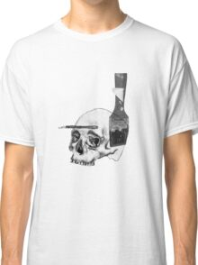 Greyscale Brush With Death Classic T-Shirt