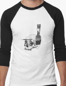 Greyscale Brush With Death Men's Baseball ¾ T-Shirt