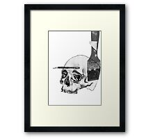 Greyscale Brush With Death Framed Print